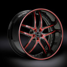 Black Di Forza BS2 Black Red Accent Black Lip Red Stripe