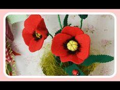 Sorteio & Como fazer Flores Papoilas de Feltros ♥ - YouTube