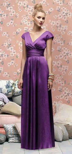 Lela Rose Style LX167 Bridesmaid Dress in Violet