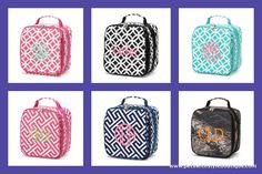 Lunch Bags Personalized with Monogram or Name...perfect for school, sports, gym