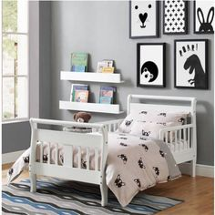 Awesome Child Loosen Up Low Top Security Rails Toddler Mattress Children Bed Room Furnishings White