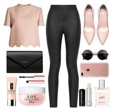 """""""✨✨✨"""" by suha123 ❤ liked on Polyvore featuring Valentino, Armani Jeans, Balenciaga, Belkin, philosophy, Marc Jacobs, Clinique and Too Faced Cosmetics"""