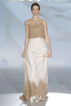 Jesus Peiro 2015 Collection Barcelona Bridal Week...Interesting, love the color & silhouette