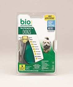 Bio Spot Active Care Flea & Tick Spot On With Applicator for Small Dogs (5-14 lbs.). Kills fleas, flea eggs, flea larvae, ticks, tick nymphs and tick larvae. Kills and repels mosquitoes that may transmit heartworm. The Smart Shield® Applicator,  specially designed to make applying flea and tick control easier. Available in 1, 3 and 6 month applicator packs*    (* is not available in refill packs). Fast-drying formula works with the biology of your dog by spreading through the oils of his…