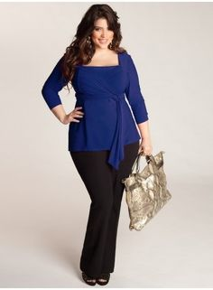 Ashley Plus Size Infinity tunic at www.curvaliciousclothes.com LOVE