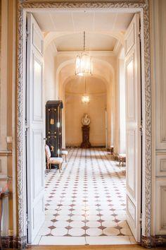 View hallway at Chateau de Beloeil, Belgium - Bold Bliss