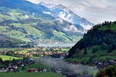 Misty morning in the Alps - By Kavram - Pixdaus Beautiful Places To Live, Outdoor Photos, Landscape Photos, Pretty Pictures, Places To See, Around The Worlds, Nature, Switzerland, Spaces
