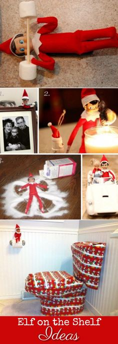 Elf on the Shelf ideas for night pranks this Christmas - great last minute Elf on the Shelf ideas too