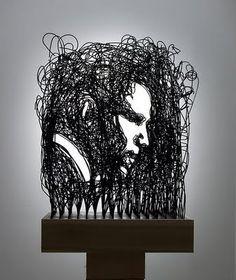 Frequência X: Incríveis esculturas de arame!