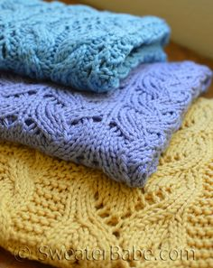 Knitting Patterns - Bestselling Blankets to Knit from SweaterBabe.com