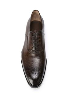 Santoni Broguing Detail Oxford Shoes