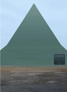 Philipp Scaherer-Swiss born artist The Bildbauten series Strong minimal angular shape contrast well with an off centre, round edged window. Architecture Cool, Art For Art Sake, Postmodernism, Little Houses, Home Art, Illustrations Posters, Facade, Environment, Photoshop