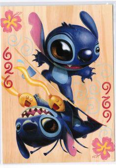 """Disneyland Postcard - WonderGround Gallery - """"Stitch 626""""  Kristen Tercek"""