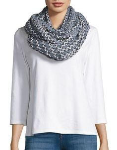 Joolay Knit Infinity Loop Scarf Women's Ice Blue