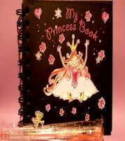 Princess book for your little girl.  Places for writing information, place for picture of her, etc.