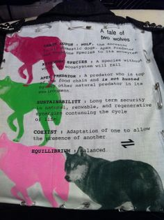 """Equillibrium's Core Classics newest print for 2014… """"EQ Wolf Seditionary- 'A Tale of Two Wolves'"""", inspired by Vivienne Westwood's seditionary series from the 70's """"A Tale of Two Cows"""" print. #Oi!"""