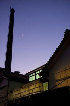 宇谷屋写真館 月と煙突