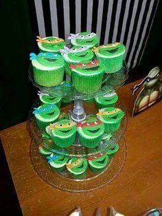 Cupcakes tartarugas ninjas