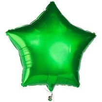 #DTGraduationParty    Don't forget a bundle of balloons tied to the mailbox to help guests find the party!  Green is my school color, so these huge stars will be perfect.  At just a dollar, I can have bunches of them all over the house.