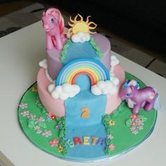 At home: MY LITTLE PONY CAKE