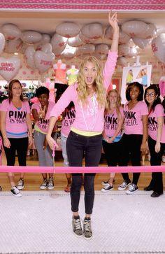 Lauren Perez, Tavern On The Green, Shanina Shaik, Pink Workout, Elsa Hosk, Michael Kors Collection, Grand Opening, Victoria's Secret Pink, Front Row