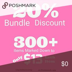 40% BUNDLE DISCOUNT! FREE SHIPPING ON BUNDLES!! 40% BUNDLE DISCOUNT! FREE SHIPPING ON BUNDLES!!  Offer $6 Less on any Bundle to cover Shipping Fees and I will accept! 40% off any Bundle PLUS $6 Less! Over 500 items, some NEW with Tags, some Fine Jewelry, ALL eligible for 40% Bundle discount and Free Shipping! All purchases before 1:30 pm Pacific ship Same Day! Sunday & afternoon purchases ship next day! Please ask any questions and read measurements. Only Offers of $6 Less on Bundles are…