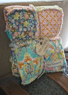 Baby Rag Quilt  Girl  Reversible  Hope Chest  by roryunraveled, $89.95