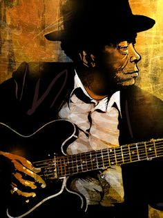 John Lee Hooker Painting  - John Lee Hooker Fine Art Print room wall decor