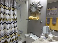 Gray And Yellow Bathroom Design Ideas, Pictures, Remodel and Decor