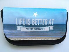 """Schminktäschchen - """"Life is better at the beach"""", Täschchen - ein Designerstück von Fotokartenundmehr bei DaWanda"""