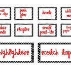 These are some labels to make the Teacher Toolbox Organizer as pictured. It is a black, white, and red theme. A picture of the Teacher Toolbox Orga...