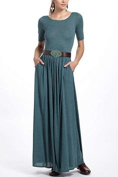 Anthropologie - Scoopback Maxi Dress