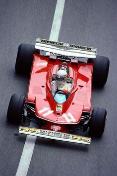Gilles Villeneuves Ferrari at the Monaco Grand Prix Ferrari F1, Ferrari Daytona, Ferrari Racing, F1 Racing, Road Racing, Lamborghini, Auto F1, Belgian Grand Prix, Gilles Villeneuve