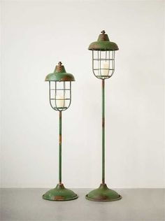 "52""H Metal Standing Lantern and Pillar Holder"