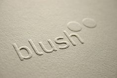 Blind embossed type on 300gsm cotton paper, Blush°° Publishing Limited