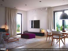 Projekt domu MT Ariel 3 paliwo stałe CE - DOM - gotowy koszt budowy Ariel 2, Tiny House, House Plans, Sweet Home, Curtains, How To Plan, Inspiration, Home Decor, Ideas