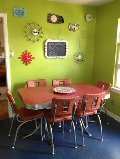funky retro kitchen table