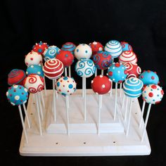 12 Dr Seuss Cake Pop Celebration Assortment by SweetWhimsyShop