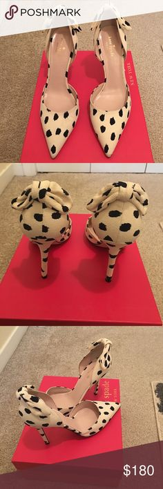Kate Spade Pumps Black and shell Lula Dot Fabric Pumps kate spade Shoes Heels
