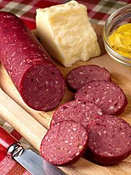 Tangy Smoked Venison Summer Sausage from an Old Vermont Recipe Homemade Summer Sausage, Summer Sausage Recipes, Homemade Sausage Recipes, Venison Summer Sausage Recipe, Salami Recipes, Jerky Recipes, Venison Recipes, Charcuterie Recipes, Deer Recipes
