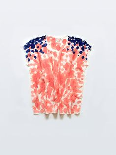 In love with Rachel Rose's hand painted silk tops.