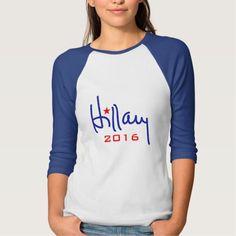 Hillary Clinton for President 2016 Star Shirt Blue