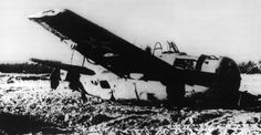 Crashed F4F-3 Wildcat of VMF-211 during the Battle of Wake Island. December, 1941.