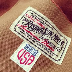 The Rising Sun Mfg. Co. vintage styling at it's very best.  This brand is also The Typehunter's dream job.