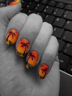 Sunset Beach Nail Art- How to-gotta try it