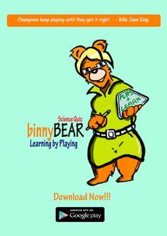 binny BEAR science quiz - now available on Google Play!