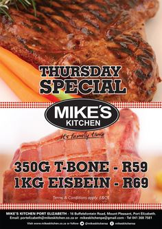 Mike S Kitchen Menu Port Elizabeth