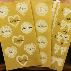 Romantic Lace Transparent Stickers(Assorted Color) – EUR € 0.85 - ¡Gastos de envío gratis! Oferta por tiempo limitado, daos prisa! ;)