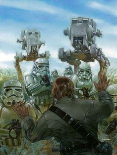 Battle of Endor by Dave Dorman