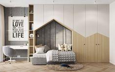 Project Wood on Behance Kids Bedroom Designs, Kids Room Design, Home Room Design, Baby Room Decor, Bedroom Decor, Teenage Room, Room Interior Design, Suites, Dream Rooms